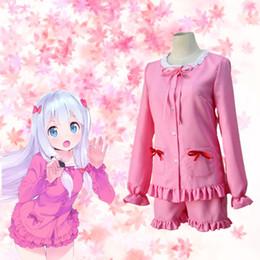 Sagiri Izumi cosplay costumes pink pajamas Japanese anime Eromanga Sensei clothing Masquerade Mardi Gras Carnival costumes supply from stock