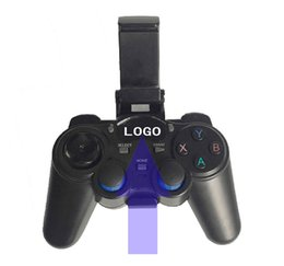 Wholesale 10pcs Custom Made G Wireless Game Controller Gamepad Joystick mini keyboard remoter for universal TV box and Smartphone w phone supporter