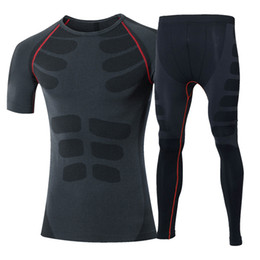 Newest Compression Short Sleeve T Shirt Pants Tights Tracksuit Male Fitness Wicking Suit Sport Gym Training Running Set 60036020