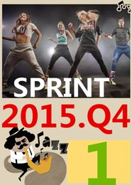 ON Top SALL Free Shipping 2016.1 January Q1 New Routine SPRINT 01 HIIT 30 Minutes Exercise Fitness SPRINT01 DVD video + CD music