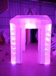 Inflatable Factory Directly 2 Doors Wonderful Cube tent Inflatable photo Booth Tent With Brightest Colorful Full glow Lights