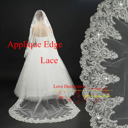 Wholesale Affordable In Stock meter Long Lace sequins Wedding Veil Bridal Veils Wedding Accessories