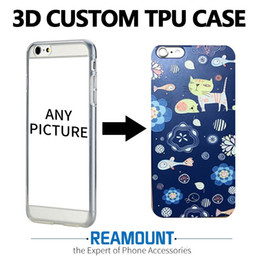 3D Relief Print Transparent TPU Case Colorful DIY Custom Picture & LOGO for Iphone 7 for Iphone 7 plus Mobile Phone Case
