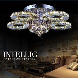 Luxurious Living Room LED Chandeliers K9 Crystal Ceiling Light Dia40 60 80 85cm Round LED Chandelier 3 5 6 7 Heads Dinning Room Restaurant