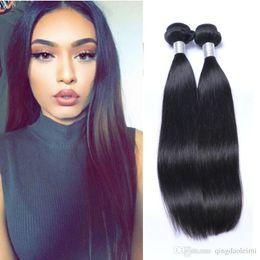 2Bundles 100g pcs Straight Brazilian Virgin Hair Weave Cheap Remy Brazilian Human Hair Extensions Dyeable Soft Full Double Weft