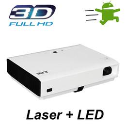 Acheter en ligne Complète android-Vente en gros Laser Projecteur 3D 1080p Full HD Laser DLP Home Cinéma Beamer 4500 Lumens Android 4.4 Bluetooth HDMI WIFI Projecteur Accessoires