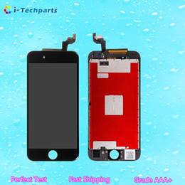 Promotion nouveaux écrans lcd Nouveau test parfait d'AAA, pour l'assemblage de cadre d'écran de numériseur d'affichage de l'iPhone 6S LCD, blanc noir Livraison gratuite de DHL
