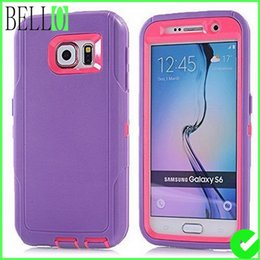 Wholesale For Galaxy S6 Tough Rubber Shockproof Dustproof Drop Scratch Resistant Army grade layer Full Body Protective Rugged TPU Extreme Duty Case