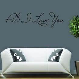 For Ps I Love You Wall Quotes Decals Removable Wall Stickers Decor Bedroom Sitting Room Vinyl Art Diy