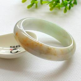 NEW China traditional Myanmar jadeite Emerald Jewelry Natural jade bracelet bangle ice waxy kind for women