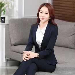 2017 New Slim Elegant Women Blazers And Jackets Long Sleeve Female Business Suit Blazer Plus Size Jaqueta Feminina Ladies Clothes 50N0411