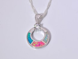 Wholesale & Retail Fashion Jewelry Fine Blue Fire Opal Stone Silver Plated Pendants For Women PJ16011720