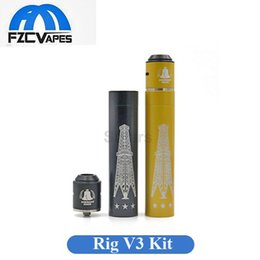 Wholesale Newest Hot Rig V3 Combo Kit Mechanical Mod with American Made RDA Clone Hybrid Combo Starter Kit E Cigarettes