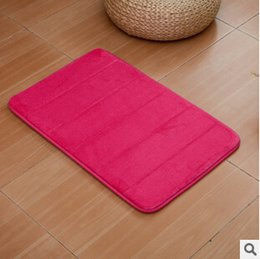 Wholesale Bath Rug Non slip Absorbent Soft Memory Foam Bathroom Carpet Shower Floor Mat More size specifications to choose from
