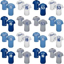 Men's Kansas City Royals 53 Melky Cabrera 15 Whit Merrifield 16 Paulo Orlando 19 Cheslor Cuthbert Baseball Jerseys Stitched