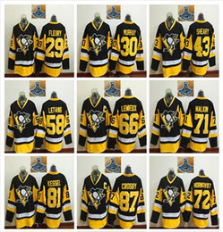 Wholesale 2016 Stanley Cup Champions Pittsburgh Penguins Hockey Jerseys Sidney Crosby Phil Kessel Evgeni Malkin Patric Hornqvist Cheap