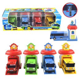 Wholesale City building construction series of children s toys tayo depot Pvc mini car smiley baby Bus Parking Kids Favorite Toys