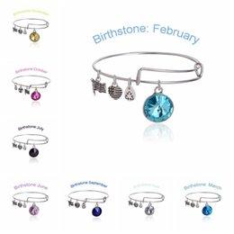 Wholesale Alex and Ani Months crystal Birthstone Charm bracelets Wiring expandable bangles band cuffs women statement jewelry