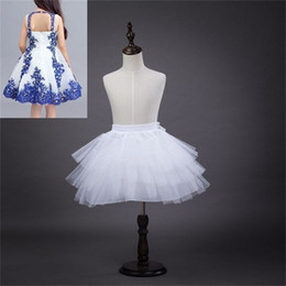 2017 New Petticoats Wedding Accessories 3 Layers Hoopless Short White Crinoline for Flower Girl Dress Kids Princess Underskirt