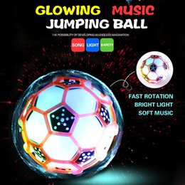 Wholesale Crazy dancing music jumping ball hot glowing toys new peculiar children creative dancing bouncing ball