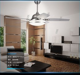 Restaurant Fan pendant light living room bedroom pendant ceiling fan Minimalism modern LED bedroom retro pendant lamp fan light