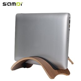 SAMDI Natural Wood Lightweight Laptop Stand Holder for Macbook Air Notebook Ipad