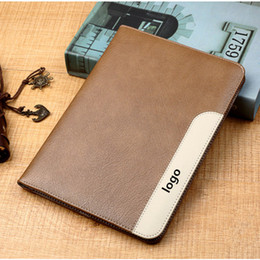 Stocks Factory Direct Sale Genuine Leather Deluxe business style Case For iPad 2 3 4 iPad Air 2 Pro 9.7 Mini 4 Leather with stand