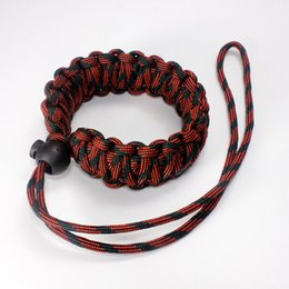 Outdoor lifesaving rope drop umbrella adjustable camera wrist strap   bracelet