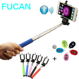 Wholesale Fashion Extendable Selfie Stick Handheld Monopod Clip Holder Bluetooth Shutter Remote Controller Battery for iPhone Android Phone