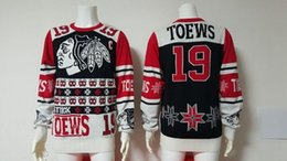 Hot Sale Chicago Blackhawks Mens 19 Jonathan Toews Best Quality Cheap 100% Embroidery Logos Black Ice Hockey sweaters Accept Mix Order