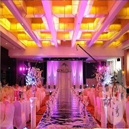 Wholesale 10M Per Roll m Wide Luxury Wedding Backdrop Decor Mirror Carpet Gold Silver Double Side Aisle Runner For Party Decoration Supplies