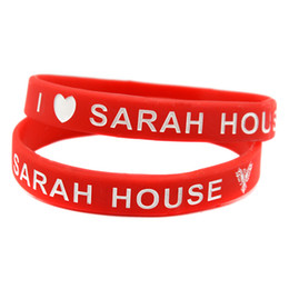 Wholesale 100PCS Lot I Love Sarah House Silicone Wristband Great To Used In Any Benefits Gift Bracelet