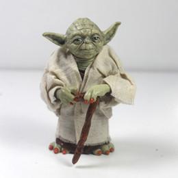 2017 l'action de guerre Star Wars figurines jouets d'action Jedi Chevalier Maître Yoda PVC modèle poupée jouets pour garçons cadeau Star Wars 7 collecteur peu coûteux l'action de guerre