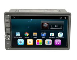 Promotion tuner audio vidéo 7 pouces un din 12V voiture universelle DVD Quad Core Android 6.0.1 lecteur audio et vidéo HD écran tactile WIFI 3G / 4G Vue arrière CAN-BUS interf