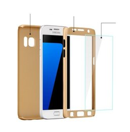 FOR Samsung Galaxy J7 Prime A7 2017 s9 s9 plus A8 2018 A8 PLUS 2018 360 Degree PC Full Coverage Tempered Glass Cover Case 300pc