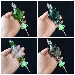 Eaux fraîches en Ligne-Nectar Collector Perc Pendants Kit avec 14mm Titane Nail Glass Wearable Tuyaux Smoking Bongs en verre plate-forme pétrolière Refroidi à l'eau et Spillproof