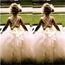 Hot Sale Real Flower Girl Dresses Princess Ball Gown Communion Party Pageant Dress for Little Girls Kids Children Dress for Wedding