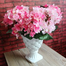 6 fork Hydrangea to beam Artificial silk flower decoration Home Furnishing simulation plant factory direct sales