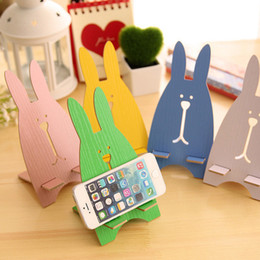 Wholesale Promotional Product Candy Color Fashion Cute Cutoon Rabbit Universal Cell Phone Pad Desk Stand Holder For Tablet for Ipad For Iphone