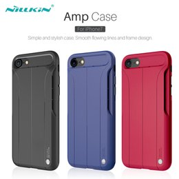 Wholesale For iPhone Case Cover NILLKIN Amp Case Luxury Nature TPU Back Cover Skin Loudspeaker Function Case for iPhone Plus