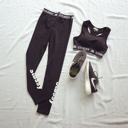 Brand Sports Suit Jogging Suits For Women Letter vs Pink Print Sport Suit women love pink slim Yoga Sportswear Costume fitness 2 piece Set