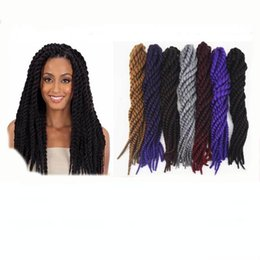 havana mambo twist extra full volume crochet braid braids 26inch 130g bundle kanekalon hair black grey yellow purple dark red brown