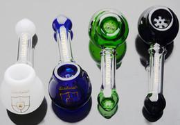 Wholesale Coloré illadelph Tuyaux en verre Heavy Wall Design en verre Mini pommeau à bulles pipette pipe pour grossiste