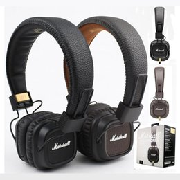 Wholesale Marshall Major II Headphones Headset Remote Mic nd New Generation pk MARSHALL MONITOR SE215 AAA quality