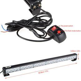 24 LED Hazard Emergency Warning Tow Traffic Advisor Flash Strobe Light Bar
