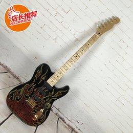 2017 guitarras llama roja Más allá de la guitarra eléctrica de la llama roja de la guitarra eléctrica de la venda del finda guitarras llama roja oferta