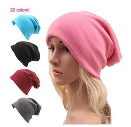Sombreros casual para los hombres en Línea-Unisex Mujer Hombres Gorras Hip Hop Sombreros de punto Otoño Invierno Casual Algodón Loose Caps 2016 Fashion Baggy hats LLFA