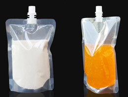 Wholesale DHL Free ml Stand up Plastic Drink Packaging Bag Spout Pouch for Beverage Liquid Juice Milk Coffee