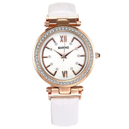 Fashion luxury fashion ladies watch leather waterproof quartz wrist watch dial free delivery