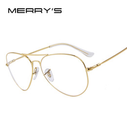 2016 or gros cadres lunettes Vente en gros-MERRY'S mode hommes titane lunettes cadres hommes marque titane lunettes or bouclier cadre avec lunettes 2 couleurs abordable or gros cadres lunettes